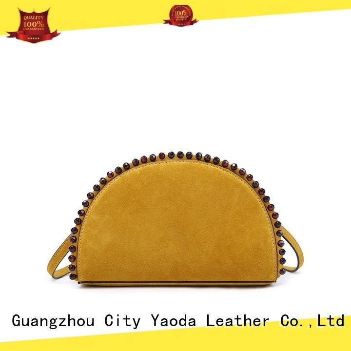 generous black leather shoulder bag manufacturer for travel ANGEDANLIA