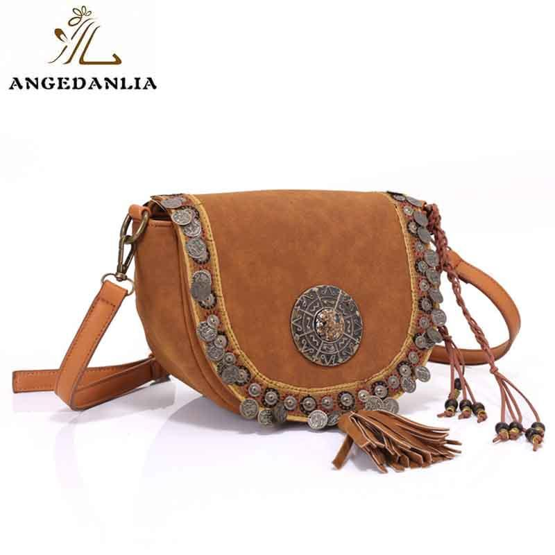 Ethnic Laser Technic Beaded Embellished PU Women Shoulder Bags-1
