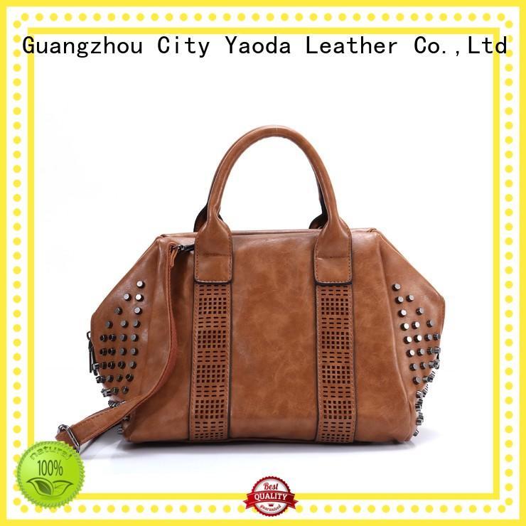 leather weekend bag handles ANGEDANLIA Brand leather crossbody bag