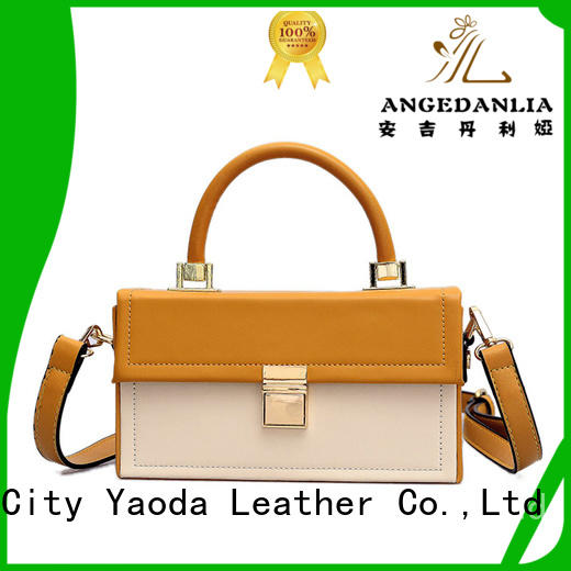 ANGEDANLIA bucket leather satchel handbags for sale for women