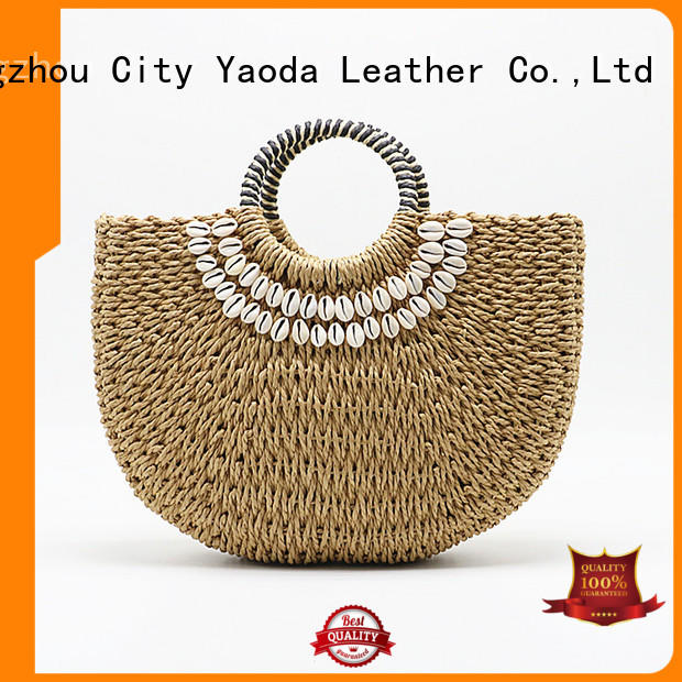 ANGEDANLIA customized straw tote beach bag for sale for girls