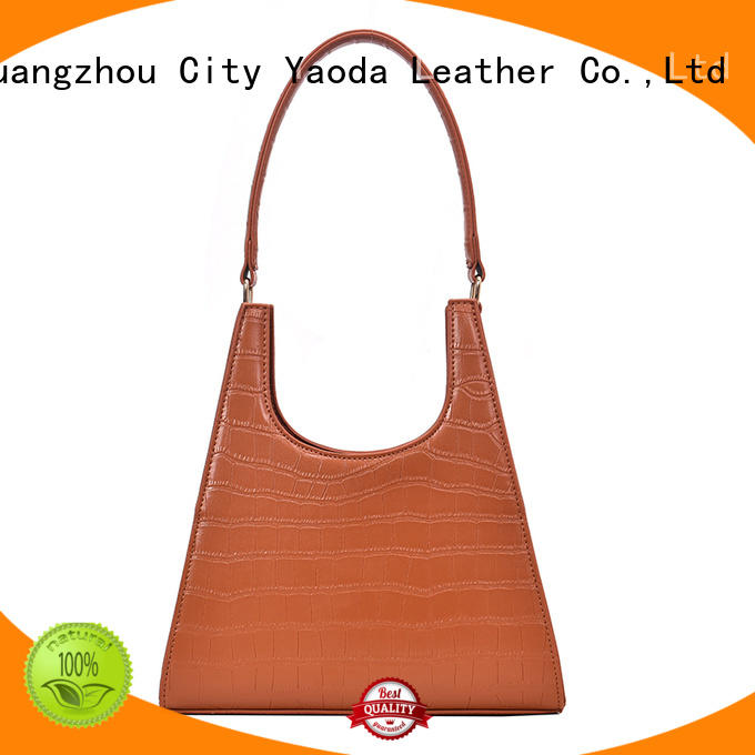 ANGEDANLIA simple green leather bag supplier for school