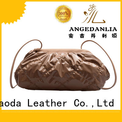 simple black leather handbag cross manufacturer for women