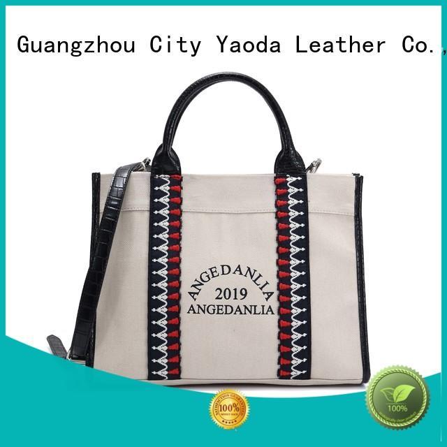 ANGEDANLIA fashion canvas shoulder bag online for lady