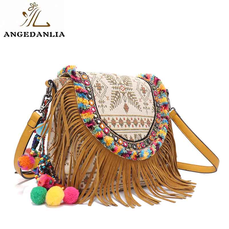 ANGEDANLIA stylish bohemian tote bag Large capacity for girls-1