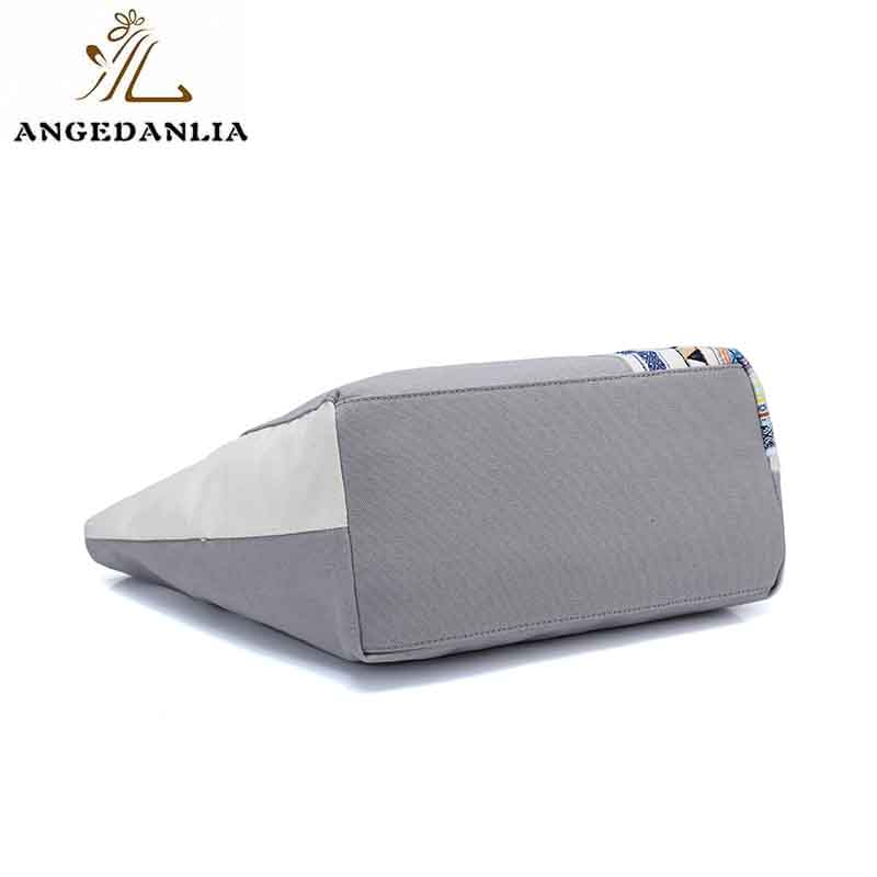 ANGEDANLIA casual boho canvas bag with zipper for daily life-5