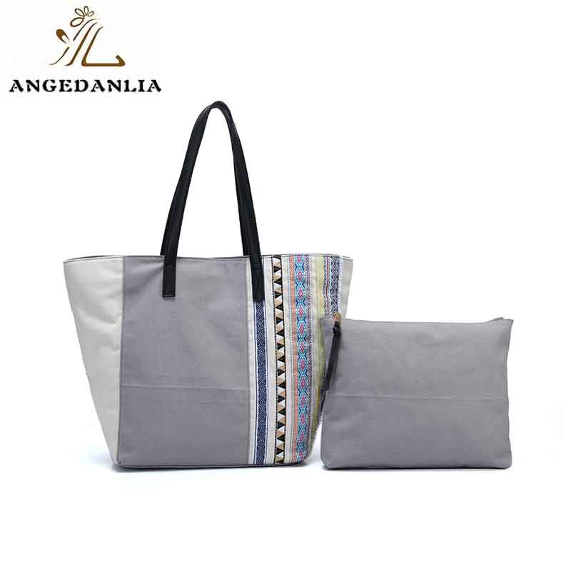 ANGEDANLIA casual boho canvas bag with zipper for daily life-6