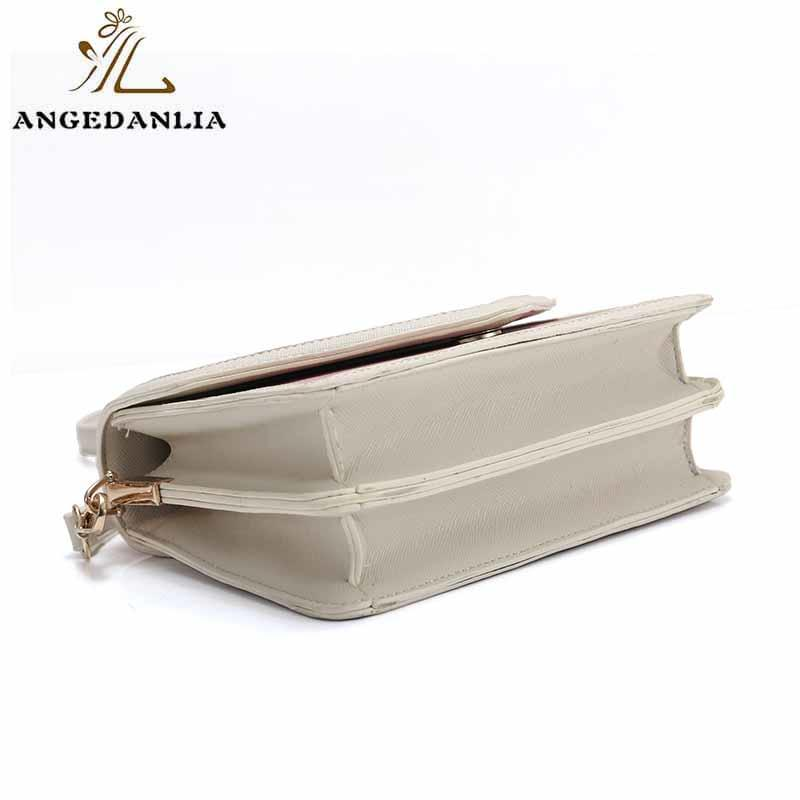 ANGEDANLIA vintage pu clutch bag woolen for travel