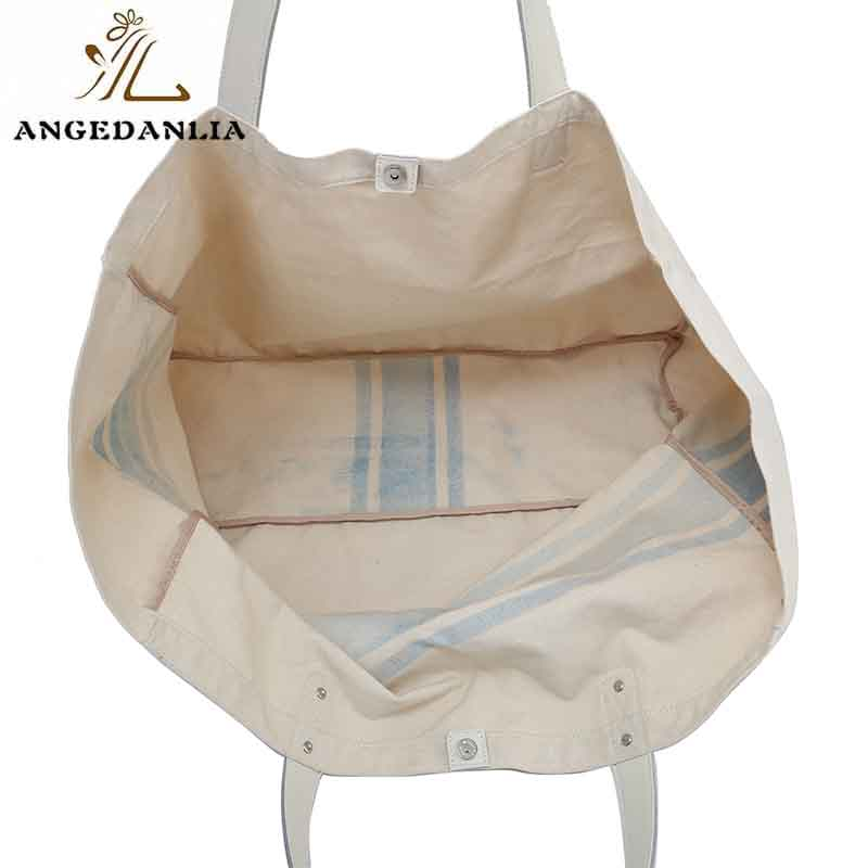 ANGEDANLIA casual canvas tote bags with zipper online for lady-7