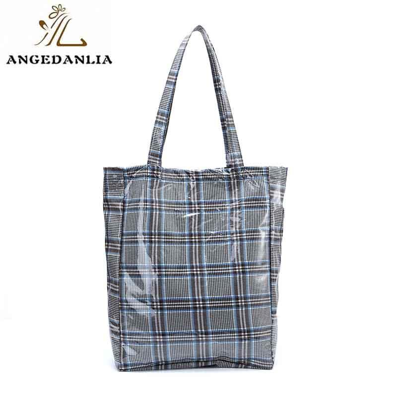 women canvas bag design natural leather ANGEDANLIA Brand