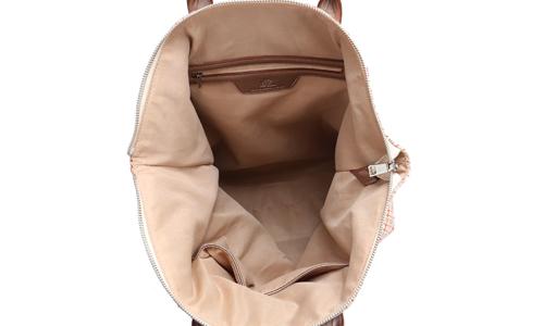 handbags canvas bag with zipper for shopping ANGEDANLIA-4