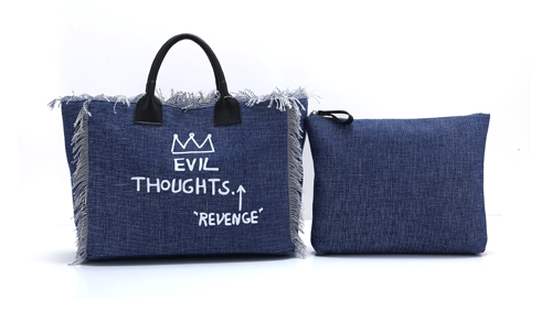 ANGEDANLIA zipper canvas bag on sale for shopping-2