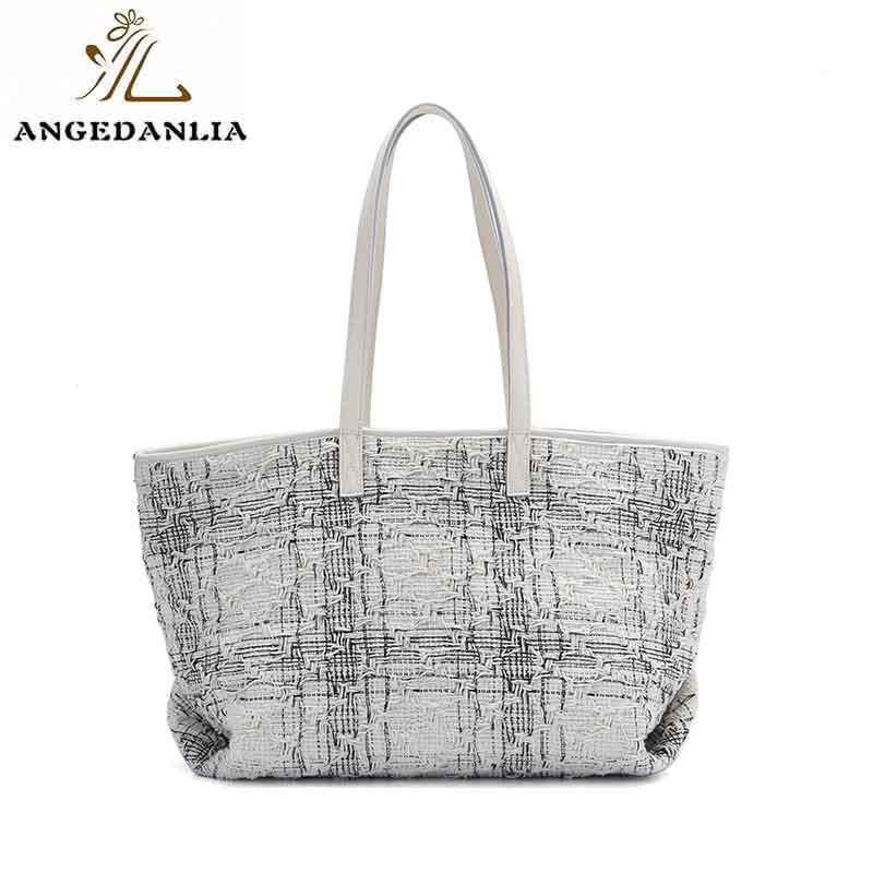 fashion canvas leather tote canvas Chinese for daily life-7