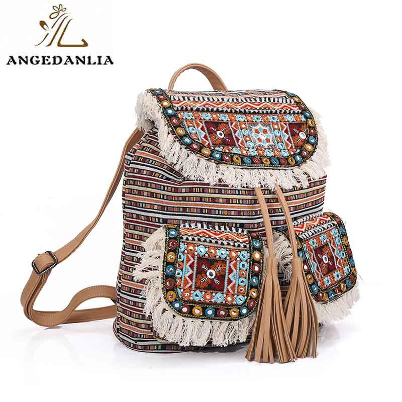 ANGEDANLIA ladies boho shoulder bag Large capacity for lady