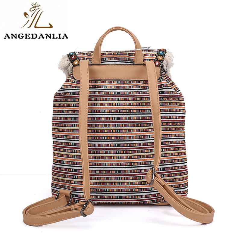 ANGEDANLIA ladies boho shoulder bag Large capacity for lady-5