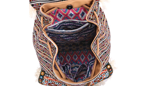 ANGEDANLIA ladies boho shoulder bag Large capacity for lady-3