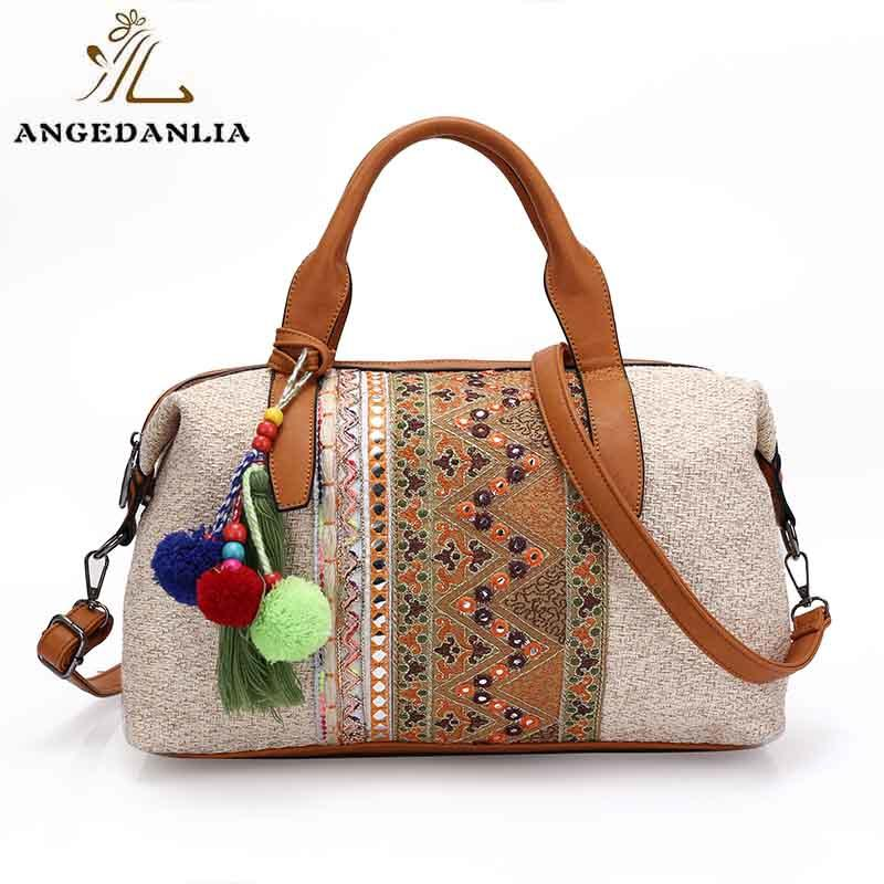 ANGEDANLIA ethnic boho fringe bag wholesale for travel