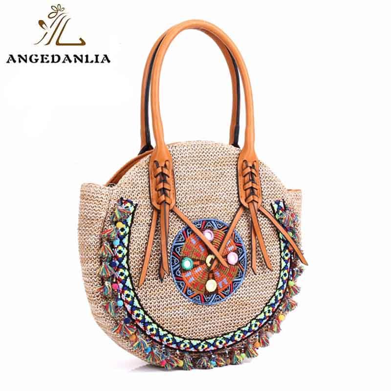 ANGEDANLIA designer bohemian leather handbags good quality for lady-1