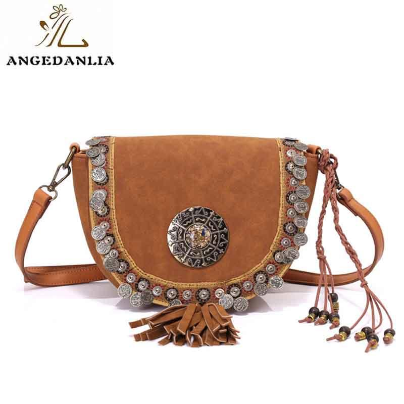 Ethnic Laser Technic Beaded Embellished PU Women Shoulder Bags