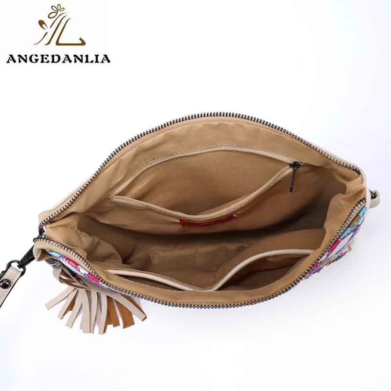ANGEDANLIA handcraft boho leather bag Large capacity for travel-6