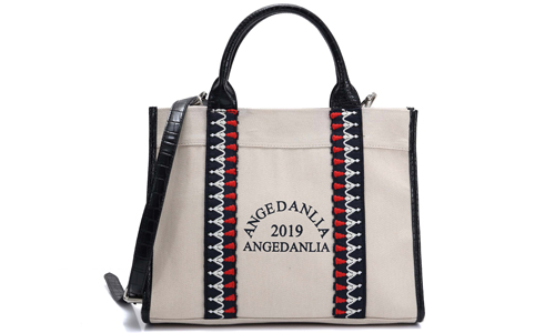 ANGEDANLIA lady women's canvas bag with zipper for travel-2
