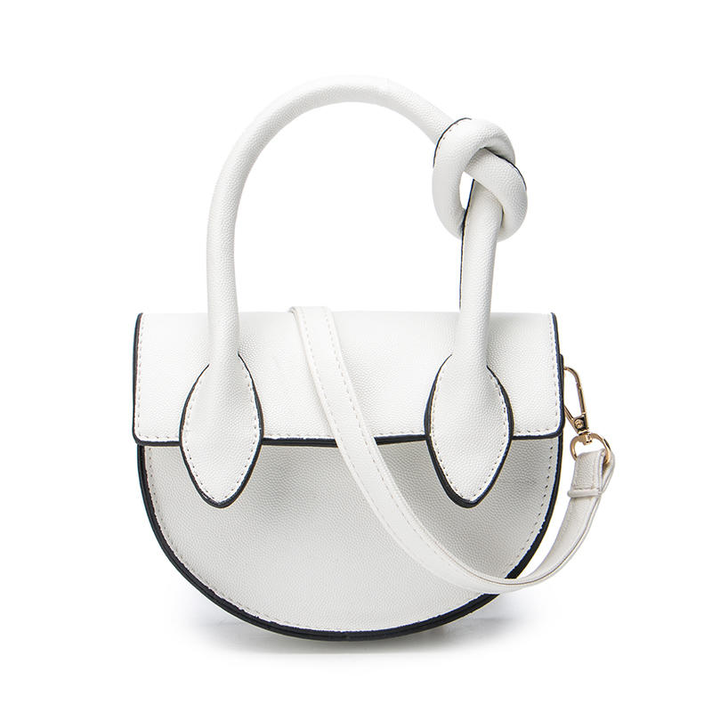 Angedanlia 2019 summer high fashion tote custom crossbody bag semi-circular shoulder small vintage pu bag litchi grain