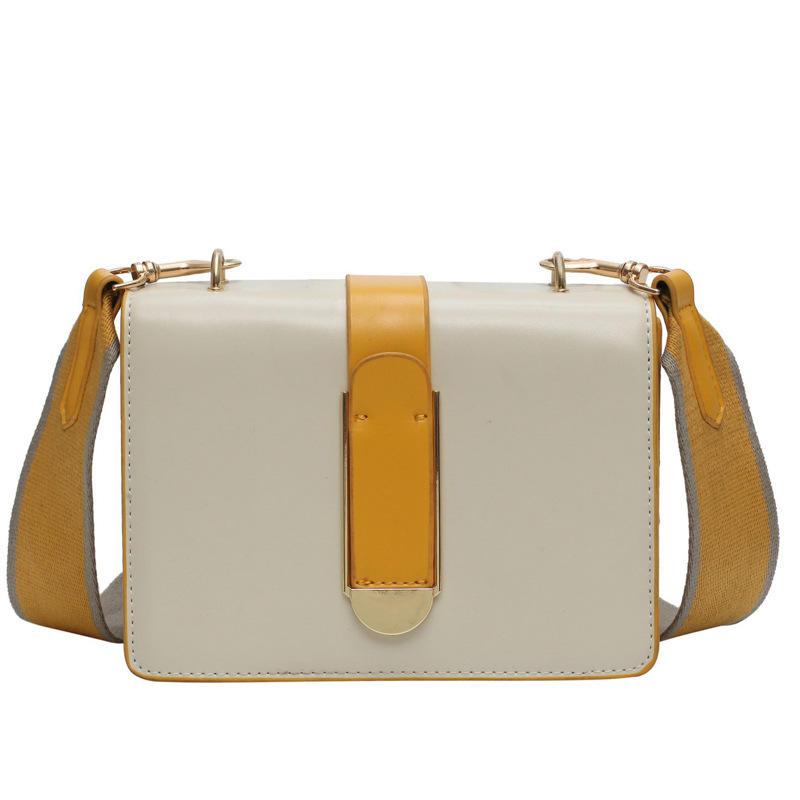 RKY0068 Korean fashion casual hit color wide shoulder strap shoulder slung small square bag
