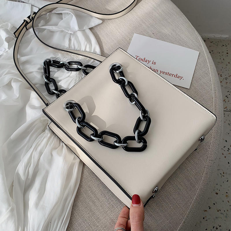 RKY0603 Simple single shoulder big female 2019 new fashion lady Korean version chain cross-body large capacity texture tote bag