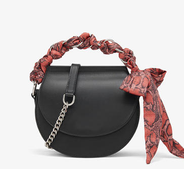 Fashion bag Saddle bag bowknot silk cover style Single shoulder woman pu bag