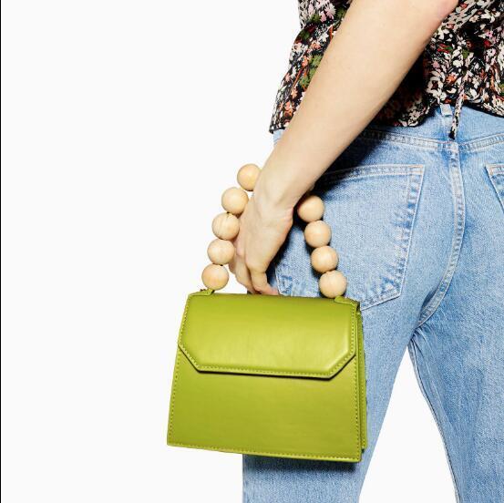 2019 new beaded billiard shoulder diagonal package high quality pu handbag