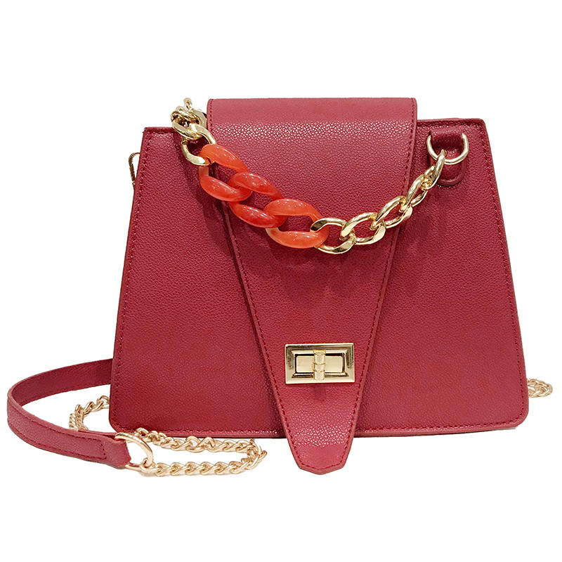 Angedanlia new retro high quality wild pure color cellphone leather crossbody bag shoulder pu