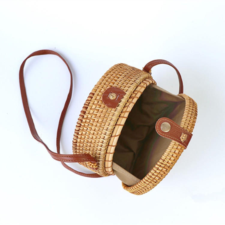 ANGEDANLIA fashion straw tote leather handles online for summer