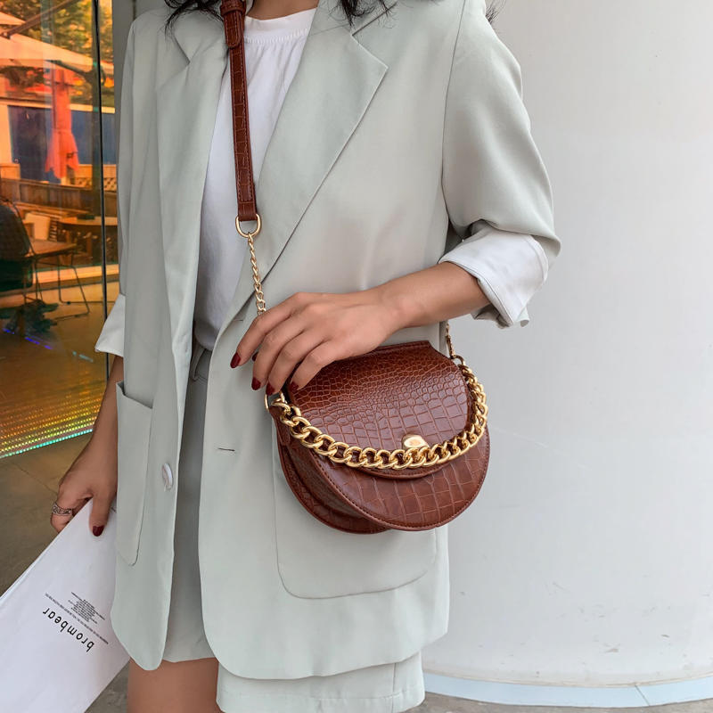 Angedanlia brand OEM lady shell acrylic luxury chain tote handbag for sale