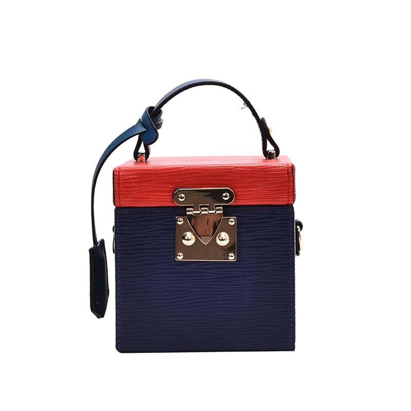 New design rectangular bag composite color style single shoulder Cross body pu box bag