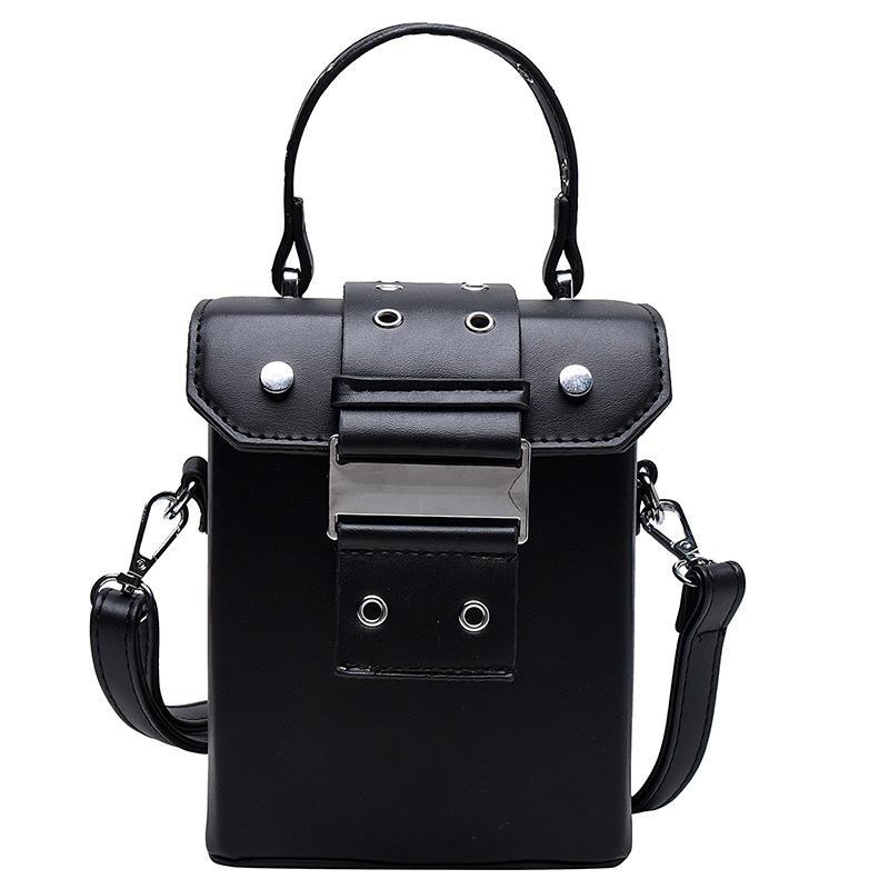 New design rectangular bag vintage style easy matching lock single shoulder Cross body pu box bag
