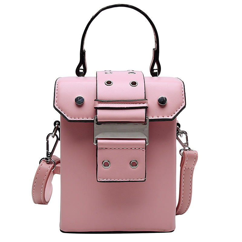 New design rectangular bag vintage style easy matching lock single shoulder Cross body pu box bag