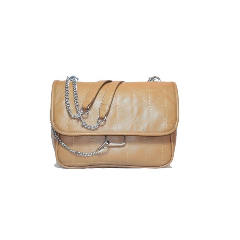 Fashion bag large capacity square pattern vintage style cross body single shoulder pu bag