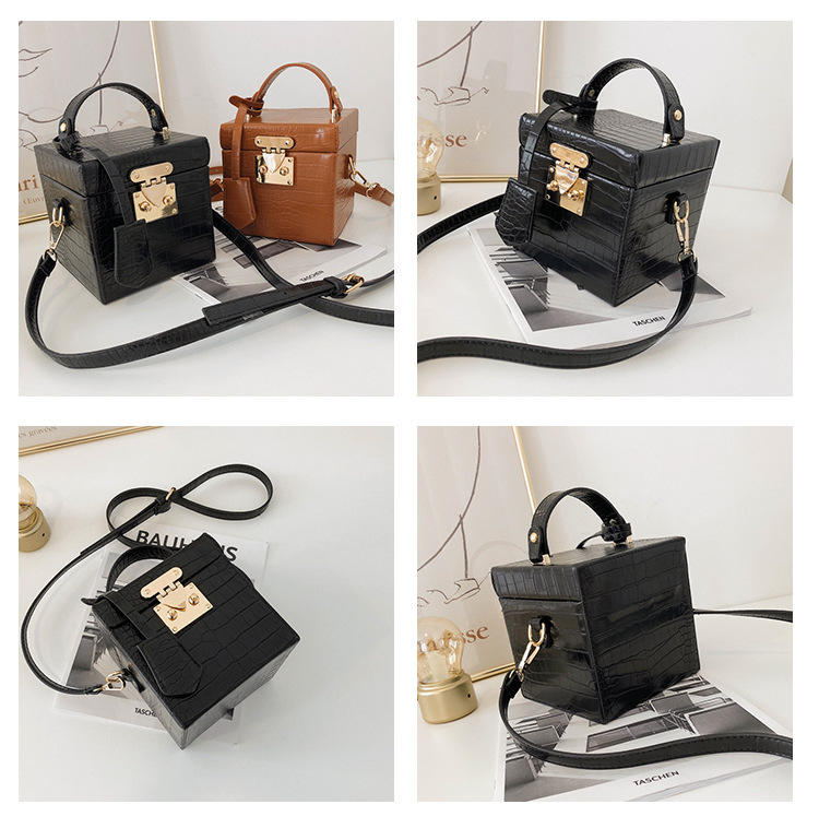 Alibaba hot sale square box purse handbag ladies purse handbags