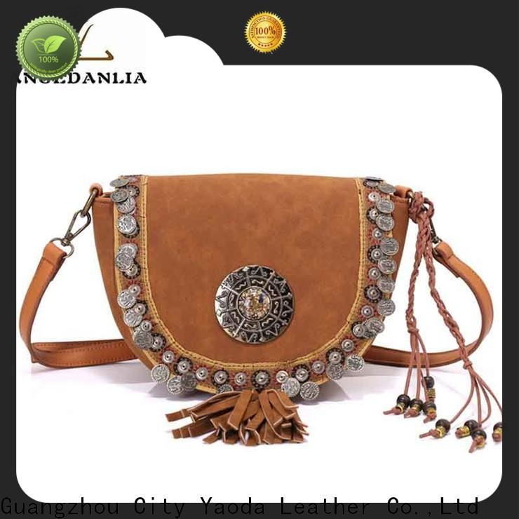 ANGEDANLIA canvas bohemian travel bag good quality for lady