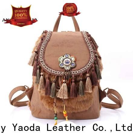 handcraft bohemian fabric bags leather supplier for women