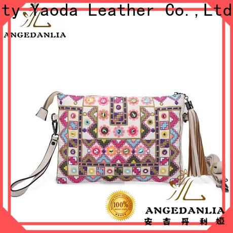 custom bohemian tote bag embroidery supplier for women