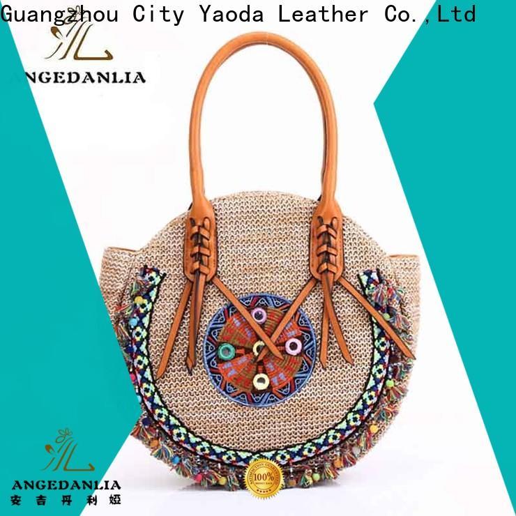 ANGEDANLIA designer bohemian leather handbags good quality for lady