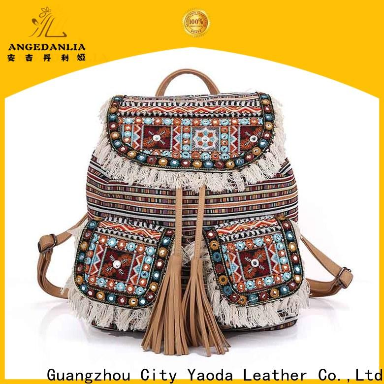 colorful bohemian tote linen Large capacity for travel