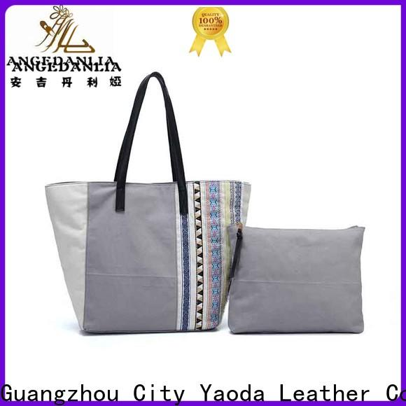 ANGEDANLIA casual custom canvas tote Chinese for lady