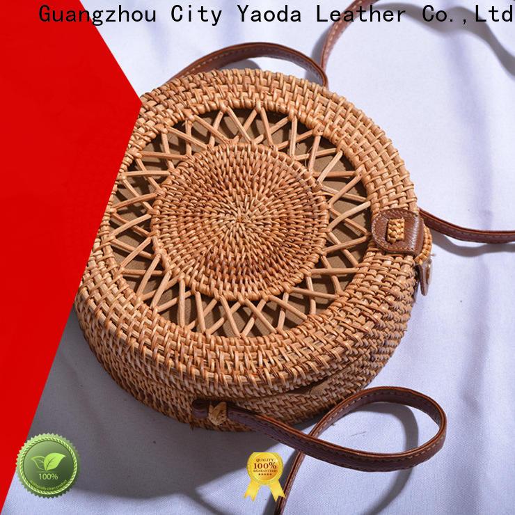 ANGEDANLIA handmade straw bucket bag on sale for summer