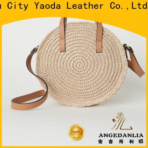 ANGEDANLIA handmade wicker shopping bag on sale for women