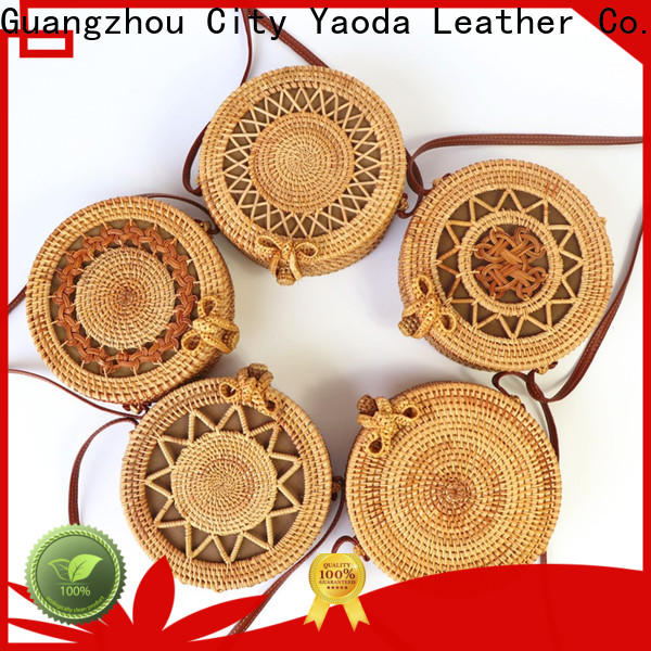 ANGEDANLIA moroccan round basket bag on sale for beach