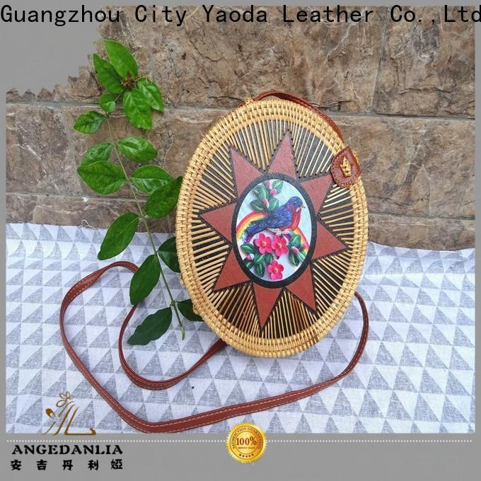 ANGEDANLIA ball wicker tote for sale for ladies