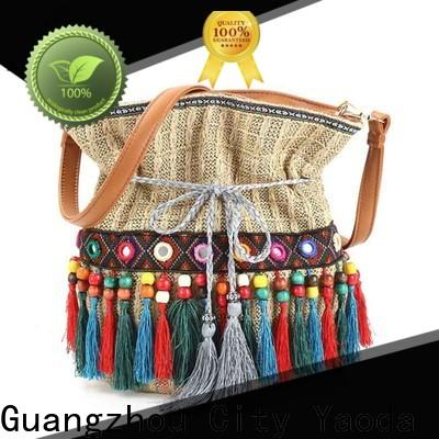 ANGEDANLIA handcraft boho leather bag good quality for lady