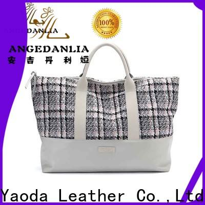 ANGEDANLIA customized plain canvas tote with zipper for travel